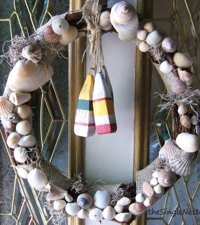 summer wreath on front door