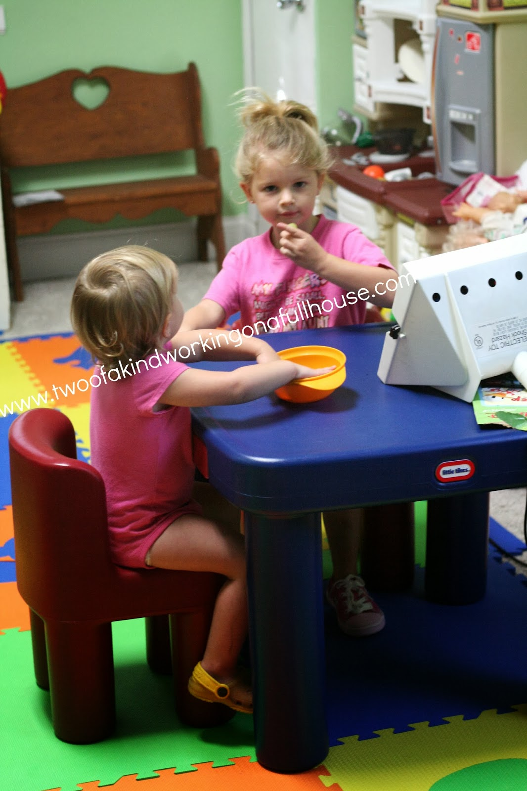 Little Tikes Large Table & Chairs Review + Giveaway | Two of a kind ...