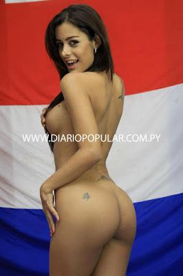 Larissa Riquelme totalmente desnuda