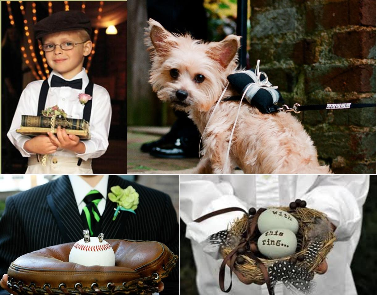 Do we have a fun and different list of ring bearer pillow replacement ideas for you: