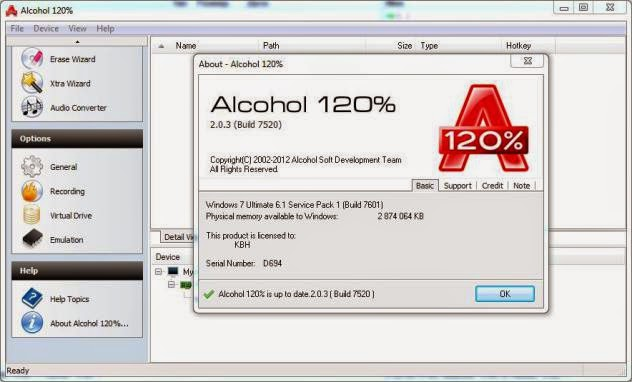 Alcohol 120% 2.0.3.7520 Final Retail Crack