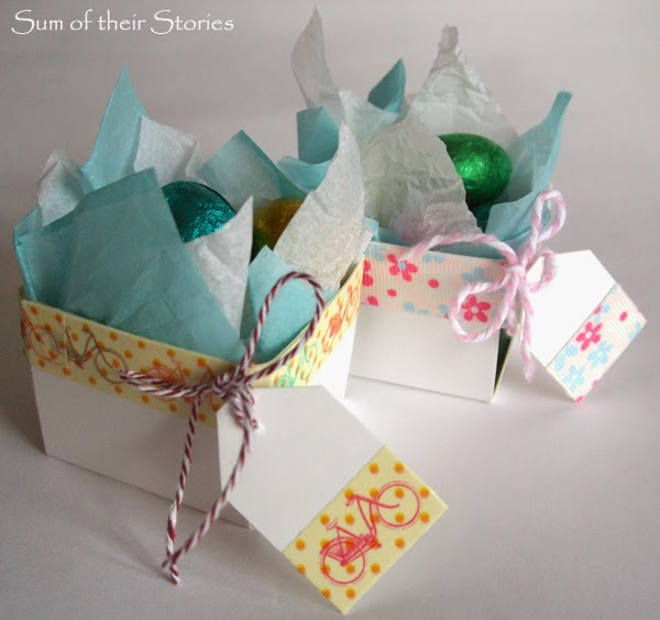 Easter basket from Washi Tape Berry Boxes www.sumoftheirstories.com