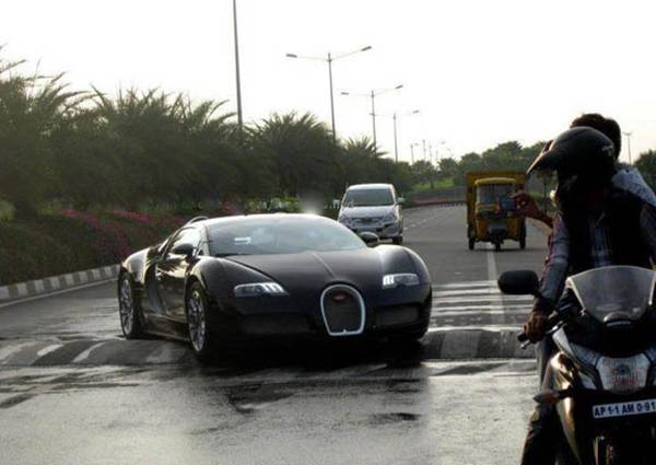 Bugatti Veyron Stuck On A Speed Breaker.