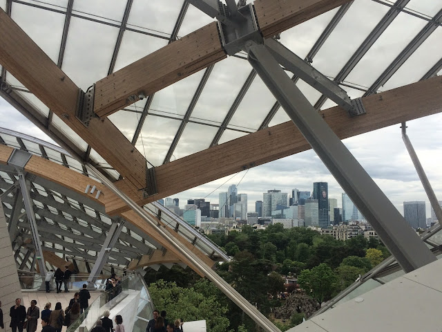 View of La Défense from  the Fondation Louis Vuitton, Paris