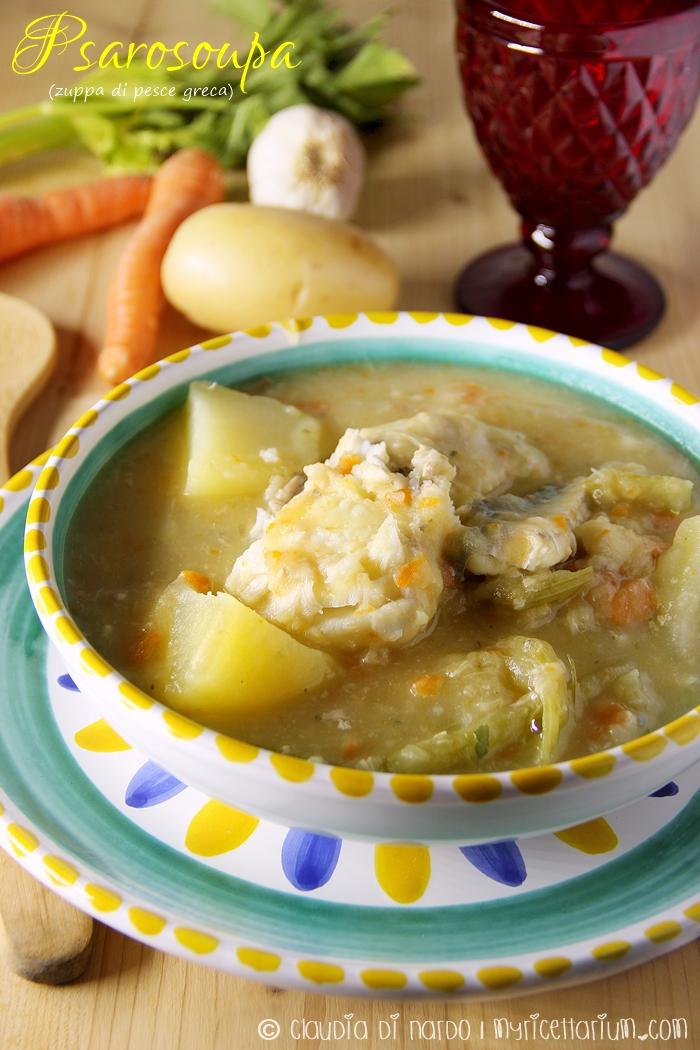 Psarosoupa  (zuppa di pesce)