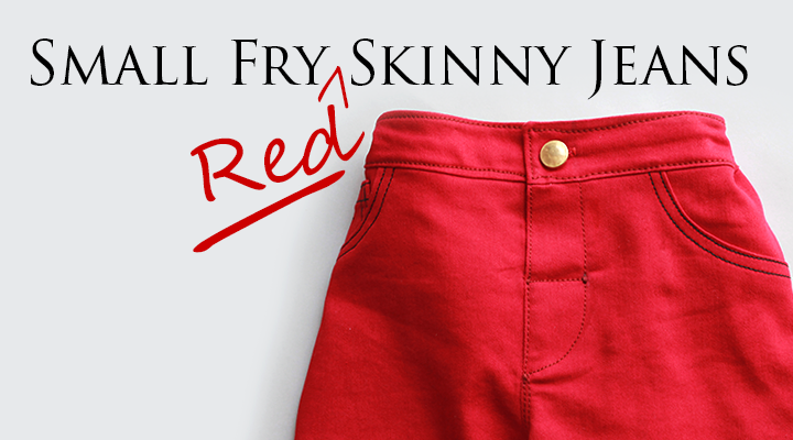 Fabulous girl's red skinny jeans! | Small Fry Skinny Jeans sewn by The Inspired Wren