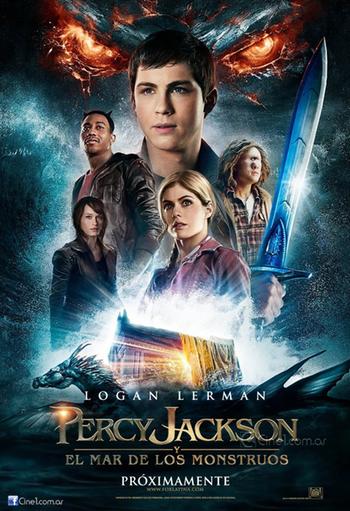 Percy Jackson y el Mar de los Monstruos: poster en español