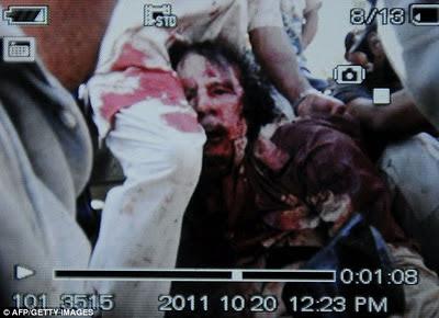 foto mayat khadafi