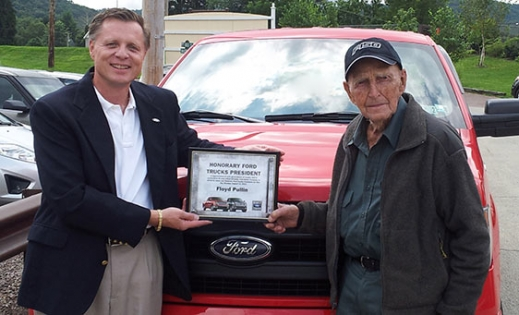 102 Year Old Man Named Honorary President of Ford Trucks
