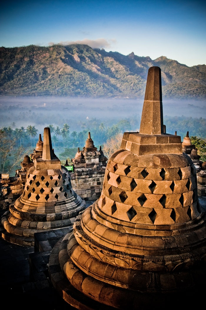 Borobudur Buddhist temple, Indonesia