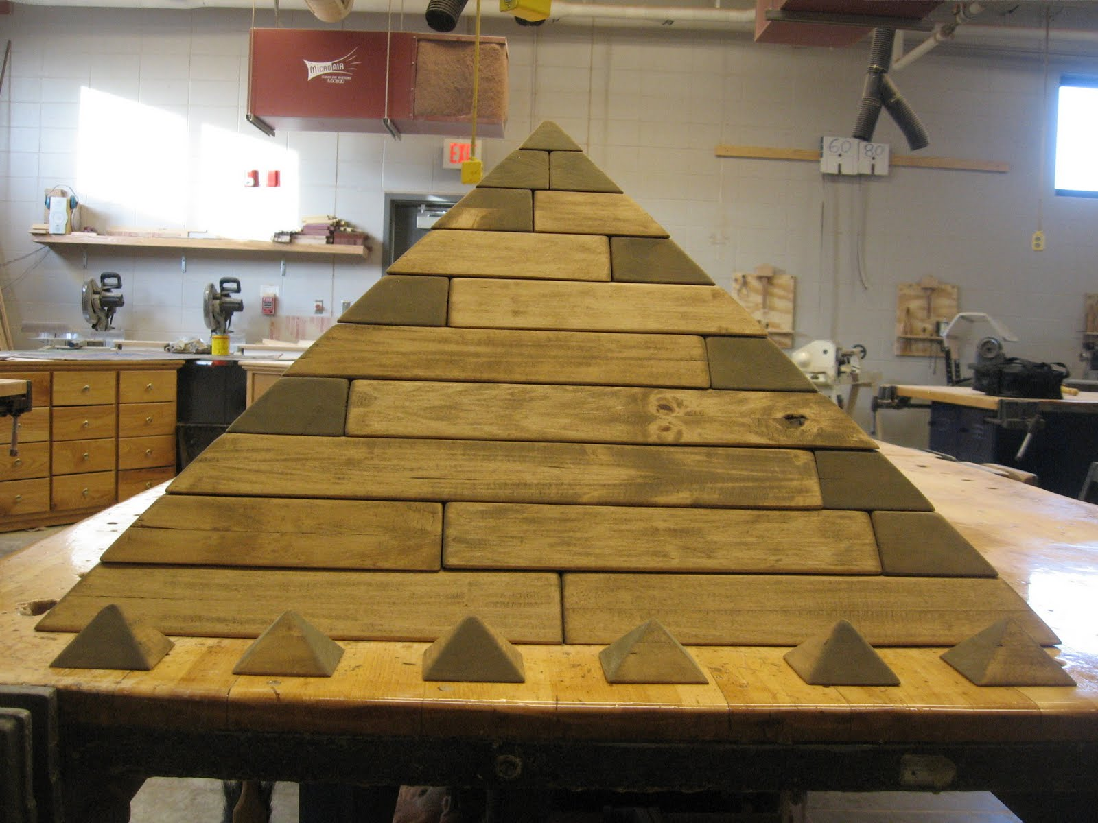 Mr. Wiemers' Shop: Pyramid - Sanded and Stained