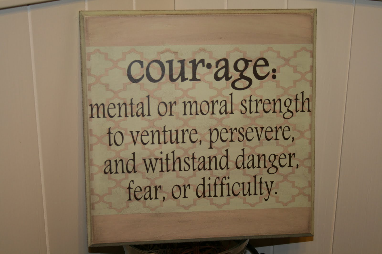 Redefining C Courage Plaque