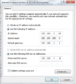setting manual ip address