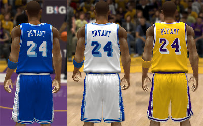 NBA 2K13 Lakers Classic Jerseys Patch