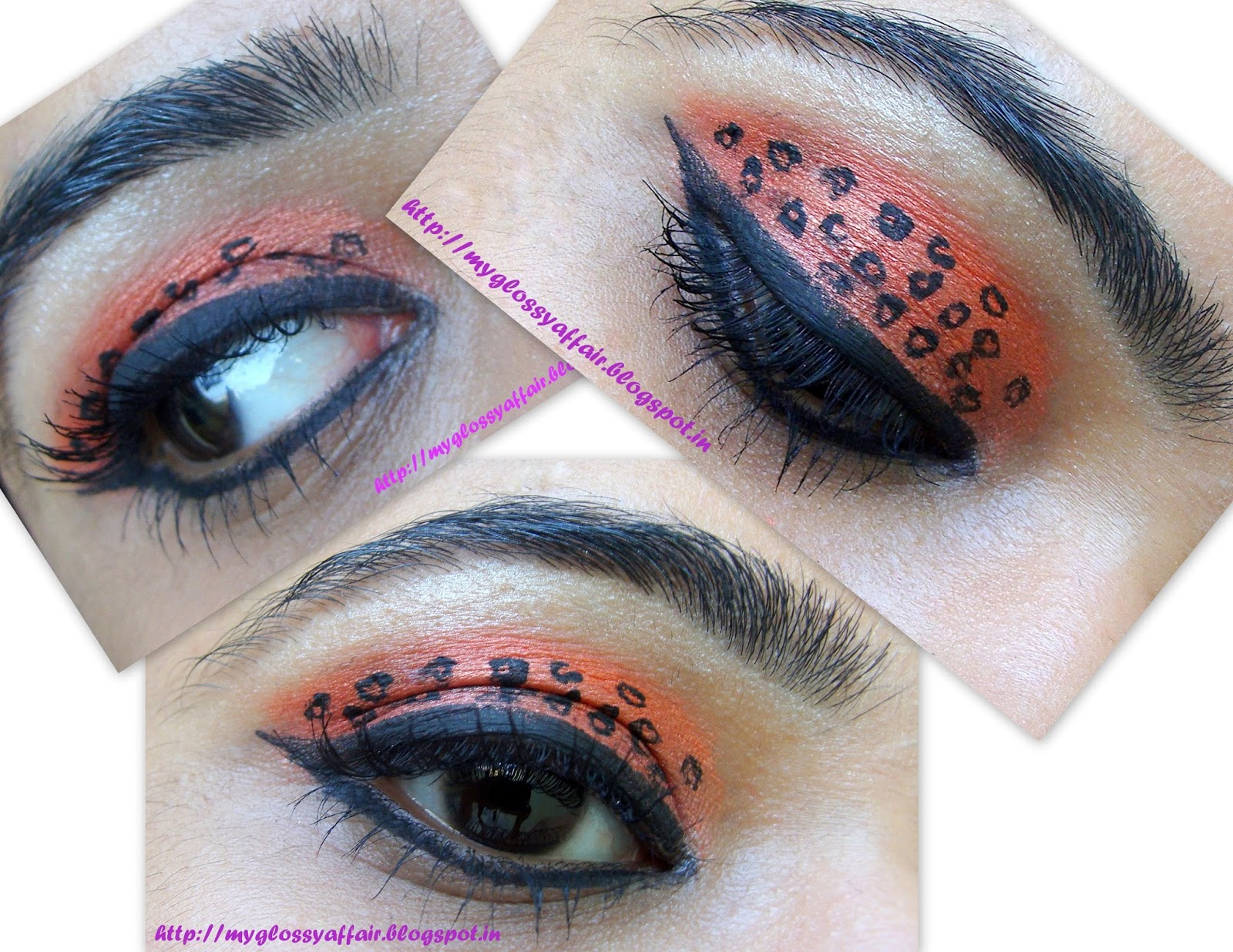 Cheetah eye makeup