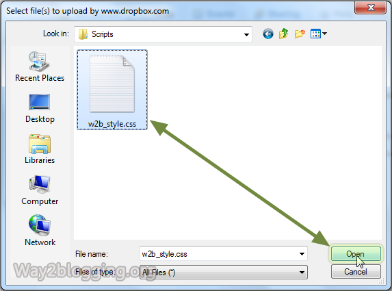 Upload/Host your Files via DropBox Online - Step4