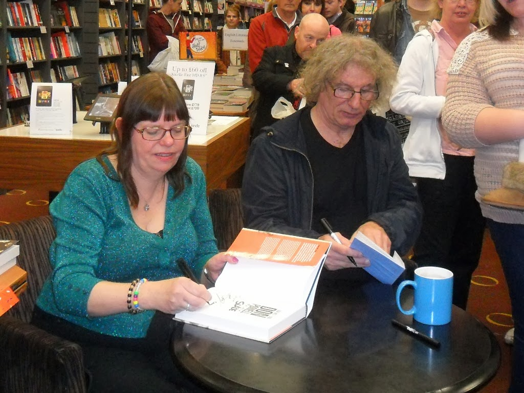 slade 2013 saturday matt bourne and his wife took me to waterstones in walsall where we met up don we signed some posters for the on the first floor and when we