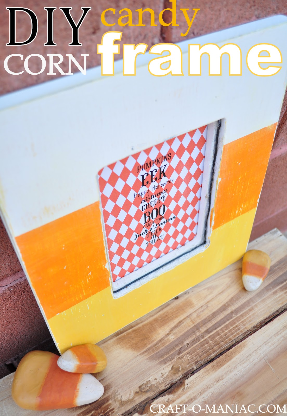 Candy Corn Painted Frame Craft O Maniac