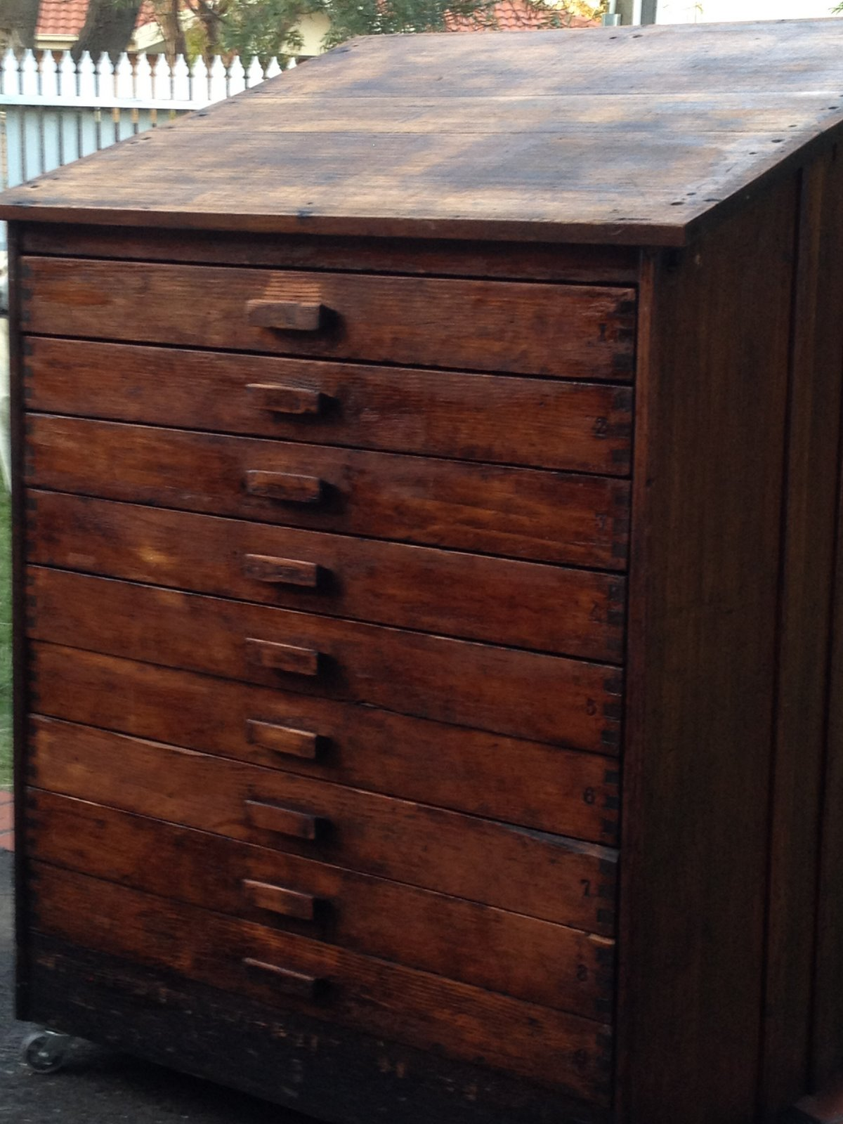 cabinet collector antique or map shop chest sold oak file drawer printer