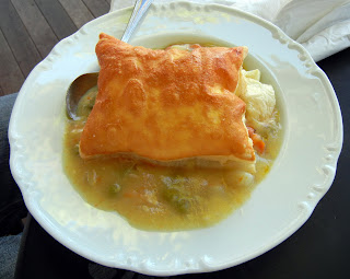 A decadent chicken pot pie at Beth's Specialty Teas in Sandwich, MA