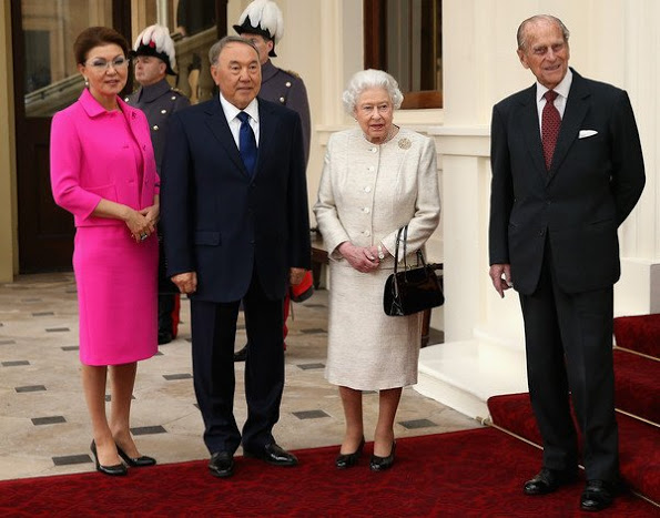 Queen Elizabeth II Received The President Of Kazakhstan