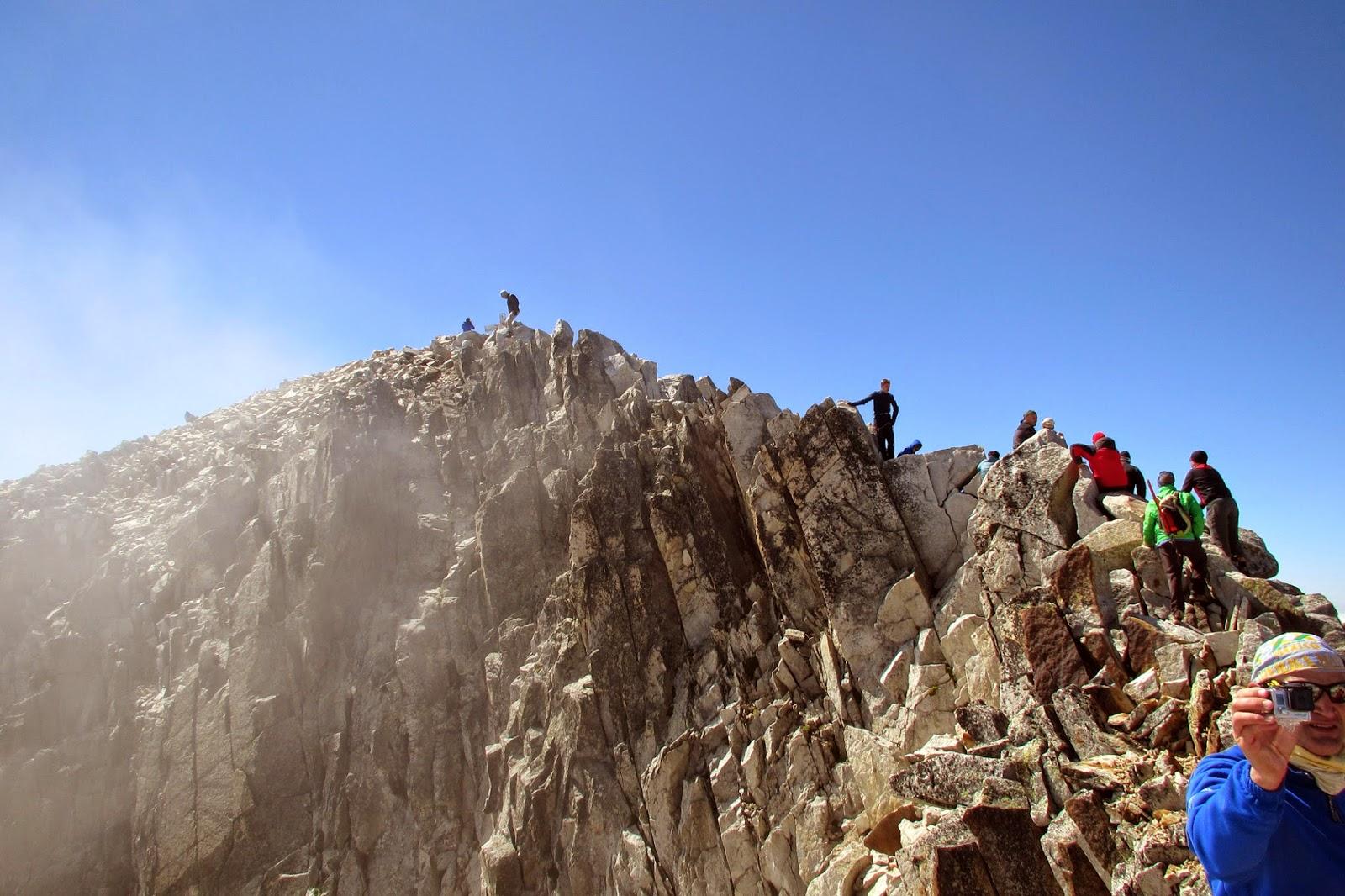 Paso de Mahoma y cima del pico Aneto