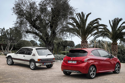 Peugeot 208 GTi meets its grand daddy the 205 GTi