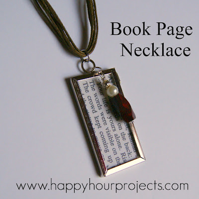 necklace with book quote