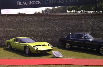 ...a Jensen Interceptor Mk.III, A Lamborghini Miura.