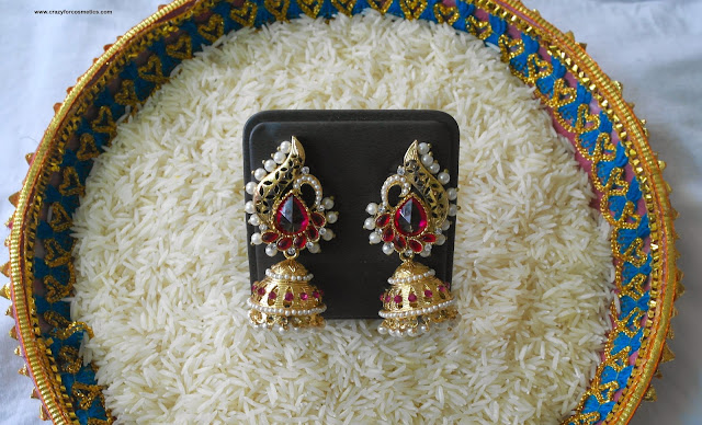Gold and purple jhumka online