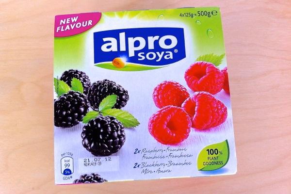 Alpro Yoghurts Blackberry Raspberry