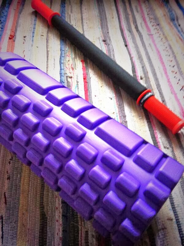 Foam roller, tiger tail, running