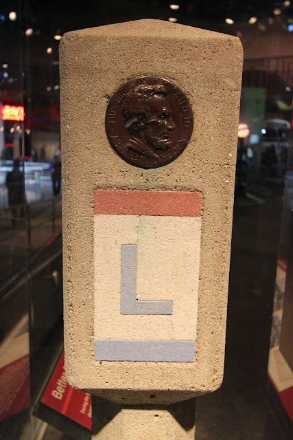 Lincoln Highway Marker 1928 at National Museum of American History in Washington DC, USA