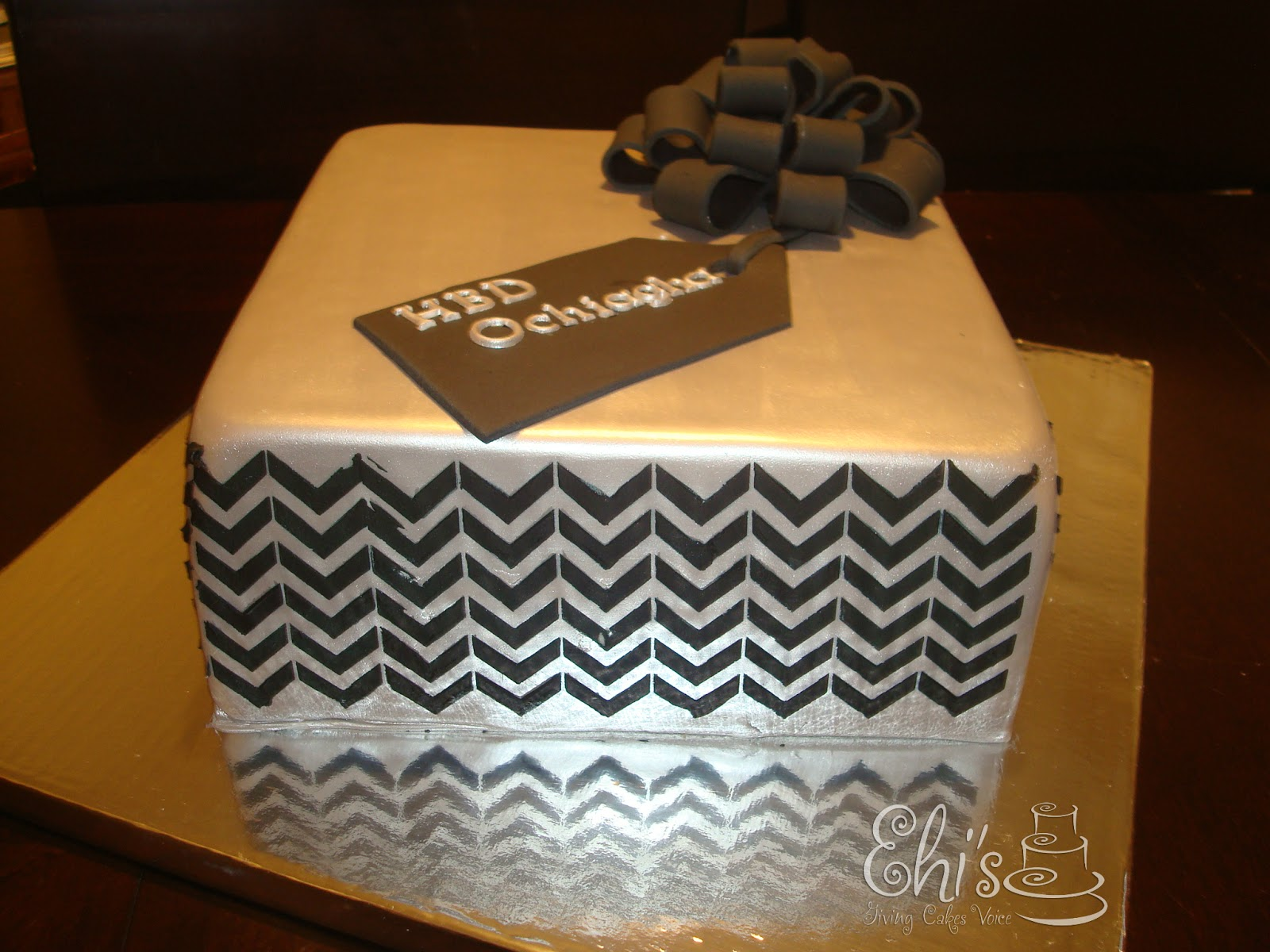 Square Cut Two Layer Cake