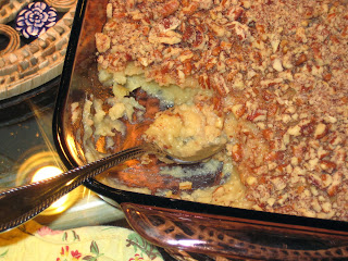 layers of sweet potato casserole