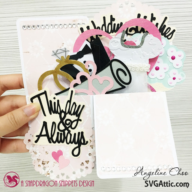 ScrappyScrappy: Wedding wishes  #svgattic #scrappyscrappy #weddingwishes #boxcard #card