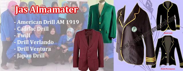contoh jaket almamater sekolah skm, sma smp, pesantren,