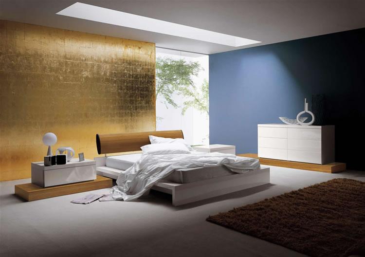 Habitaciones con estilo colores relajantes para pintar un - Pintar pared dormitorio ...