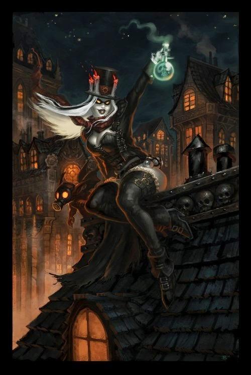 Chris Bourassa deviantart ilustrações sombrias fantasia