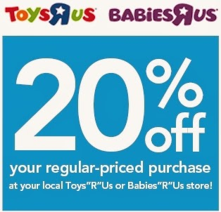 photo regarding Printable Toys R Us Coupon named Day by day Cheapskate: Toys R Us/Toddlers R Us 20% off printable