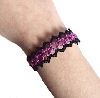 alternative fashion bracelet tatting