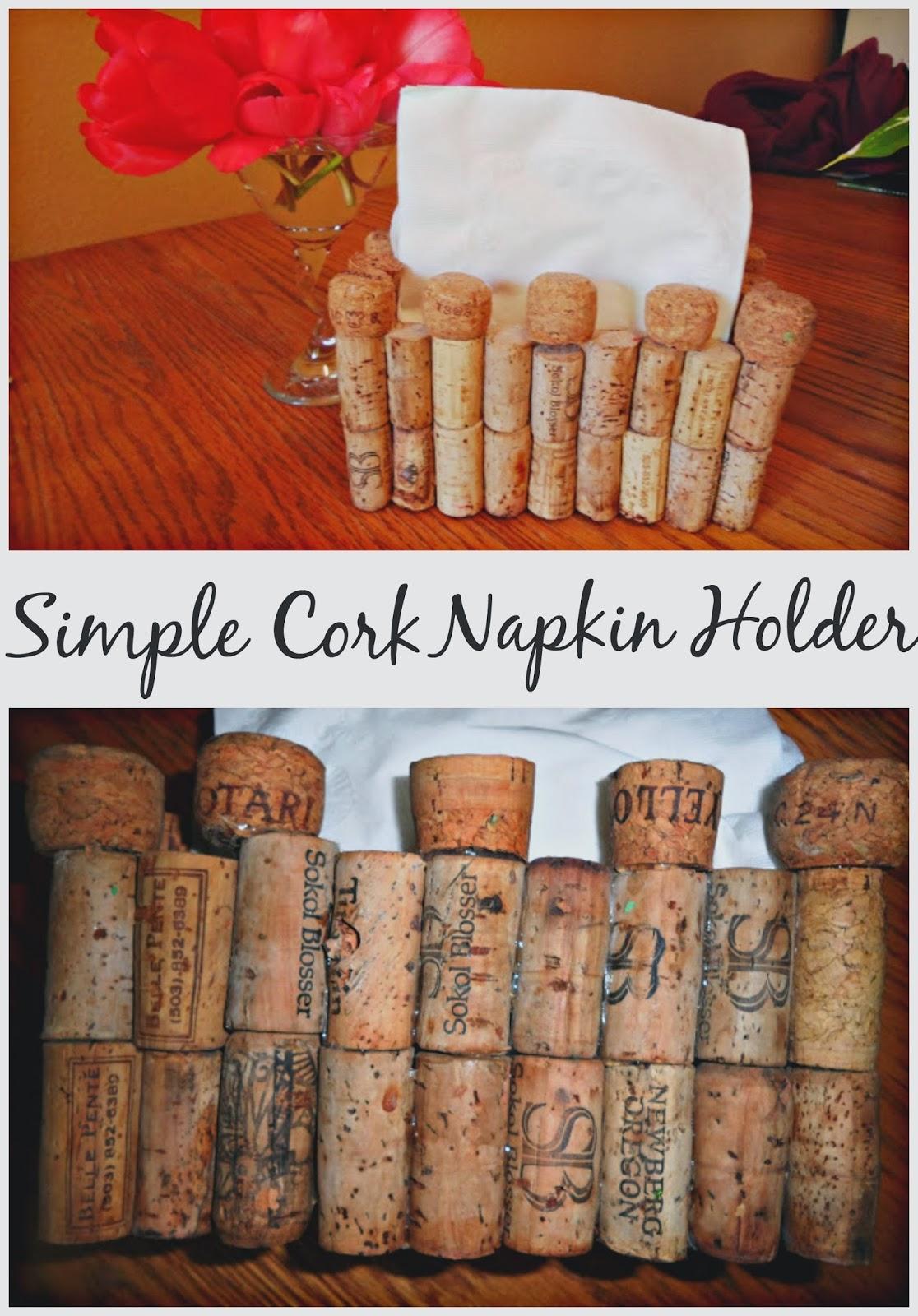 simple cork napkin holder