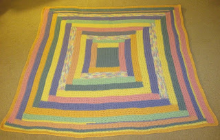 Easter Log Cabin Afghan