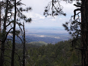 Looking south, we could see all the way down to the center of Santa Fe.