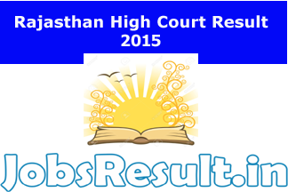 Rajasthan High Court Result 2015