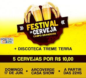 É neste Domingo (17) Festival de Cerveja na Arco Verde Casa Show em Campo Grande