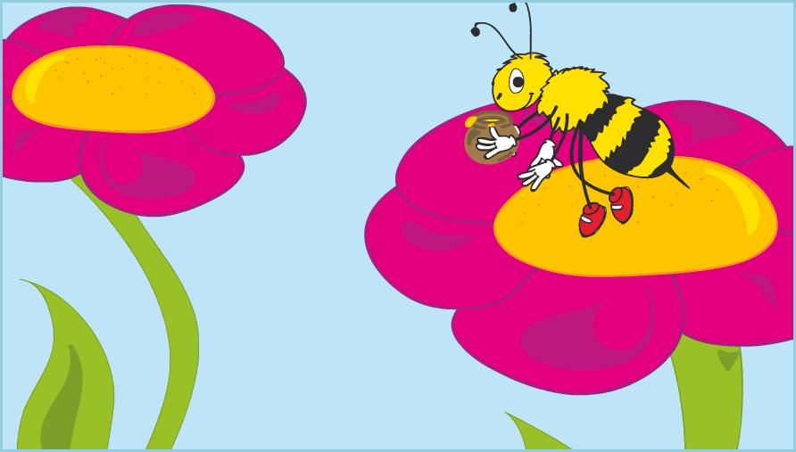 Η μέλισσα αν πάρει τη γύρη των λουλουδιών, θα φτάξει μέλι