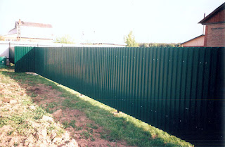 Забор из профлиста. Фото 13