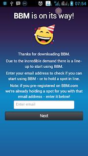 cara membuat id bbm di android