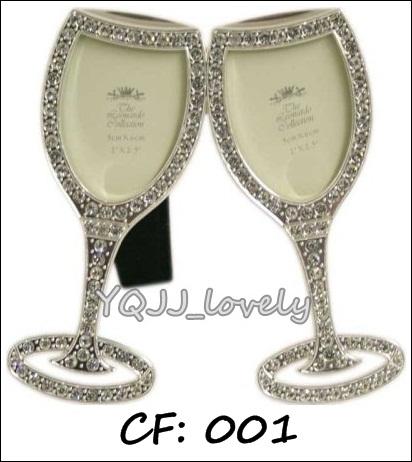 Champagne Glasses Photo Frame : YQJJ_Lovely